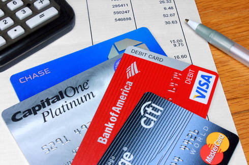 Capital One Debt Consolidation | Credit cards on a desk