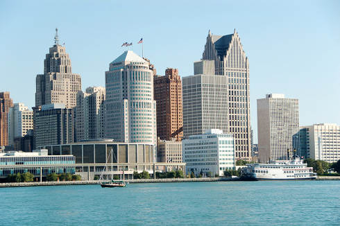 Detroit Skyline | Michigan Collection Laws