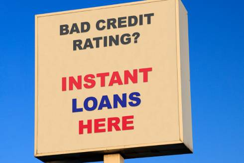 Instant Loans Here sign | Payday Loans