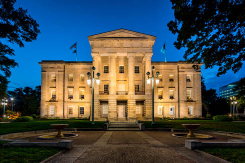 North Carolina Capitol at night | North Carolina collection laws
