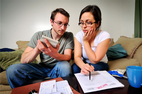 Couple in debt