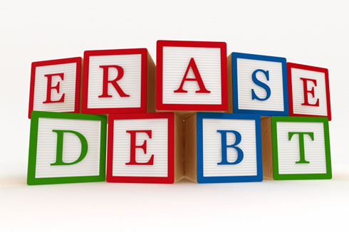 Erase debt | Get out of debt and erase your debt.