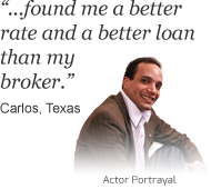 Carlos from Texas says 'Found me a better rate and a better loan than my broker' about bills.com